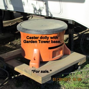 Caster dolly and Garden Tower base