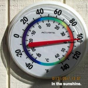 One hundred degrees
