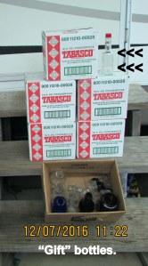 Tabasco bottles