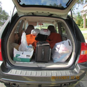 Donations in the back of my KIA