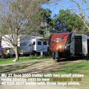 Neighbor's trailer set up