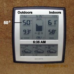 Temperature at six-thirty