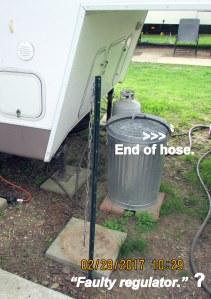 Propane tank leak