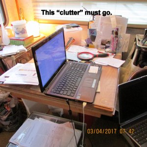 This clutter must go
