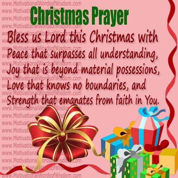 Christmas Prayer.Christmas Prayer Three Quarters Counting